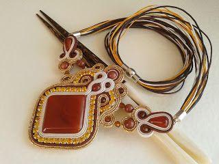 """Sutache Alexandry - unique jewellery: Naszyjnik """"Karmel w Złocie"""""""