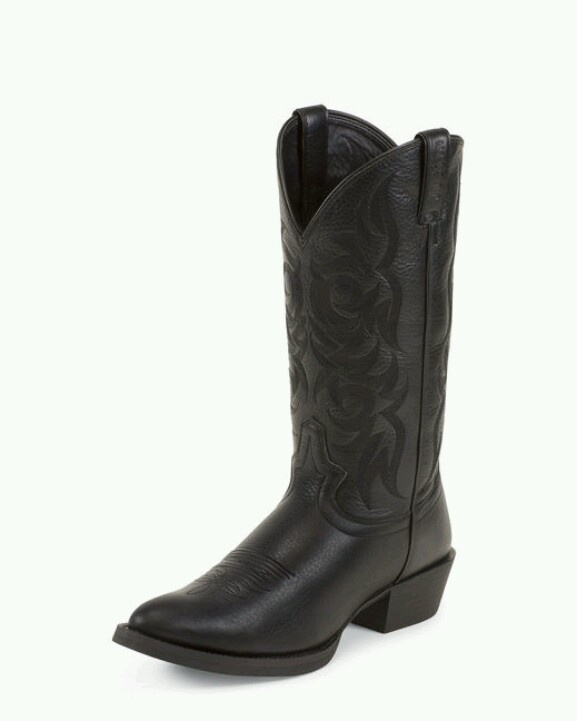 Men's Black Deercow Boot - 2553