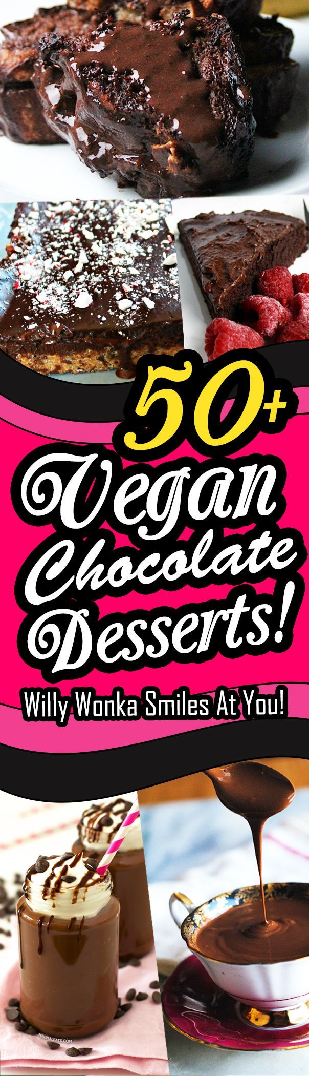 50+ of the Best Vegan Chocolate Desserts... Ever! Includes chocolate recipes for cakes, mousses, bars, puddings, muffins, and more.