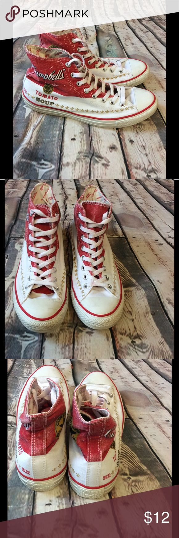 Andy Warhol converse size 9 1/2 (men) Andy Warhol converse size 9 1/2 (men) Campbell Soup Company edition -happy to answer questions Converse Shoes Sneakers