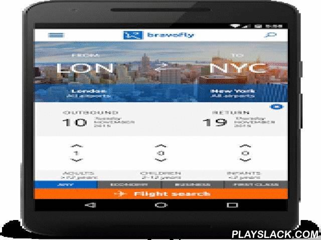 Bravofly: Flights And Hotel  Android App - playslack.com ,  Bravofly compares over 350 traditional and low cost airlines to find you the best flight deals. You nolonger have to waste time searching airline websites to compare flight prices – with Bravofly you'rejust a few clicks away.Booking flight tickets has never been easier – find the most convenient flight at the lowest cost withBravofly's advanced filter search.Travelling with with children or a big group? No Problem. Bravofly lets you…