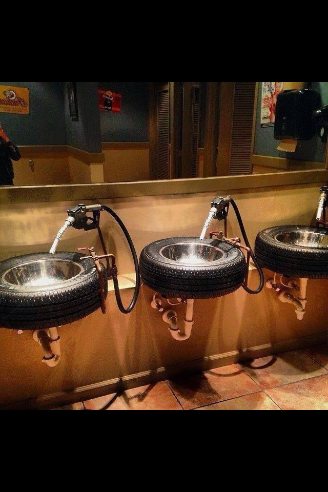 Man cave bathroom sinks