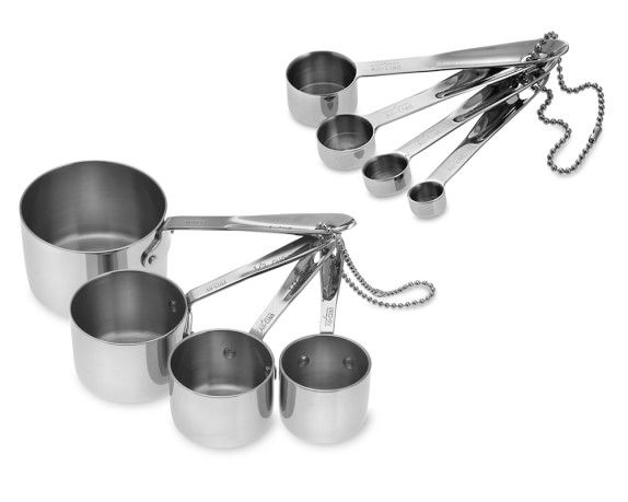 All-Clad Stainless-Steel Measuring Cups & Spoons | Williams-Sonoma