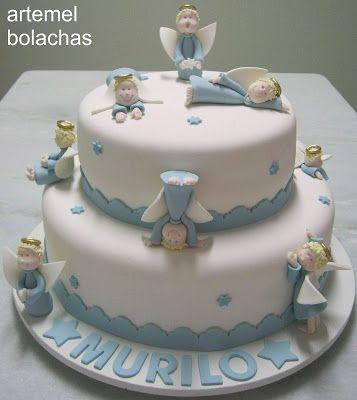 誕生日 生日 Birthday artemel bolachas: O batizado do Murilo