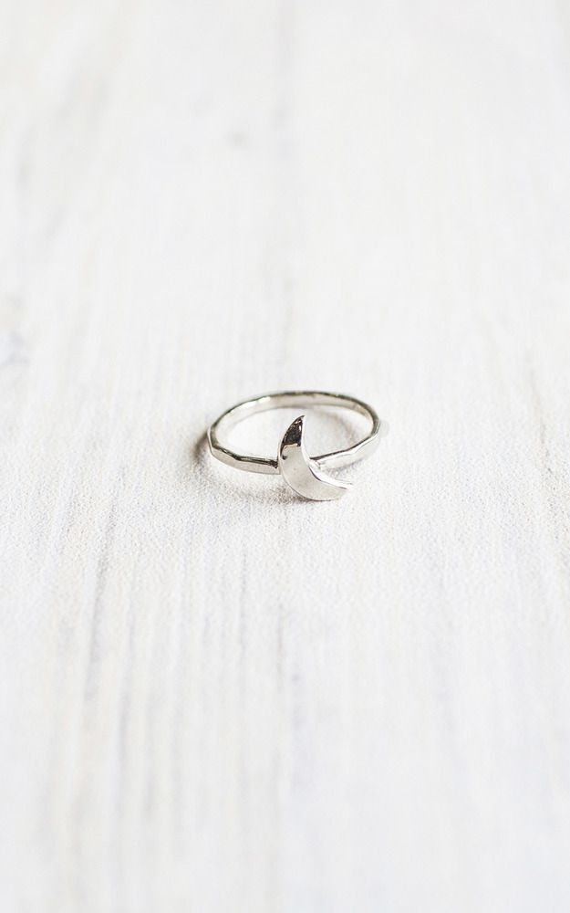Showpo Hunter Gatherer - New Moon Ring in Sterling Silver - XS Rings #SterlingSilverProducts
