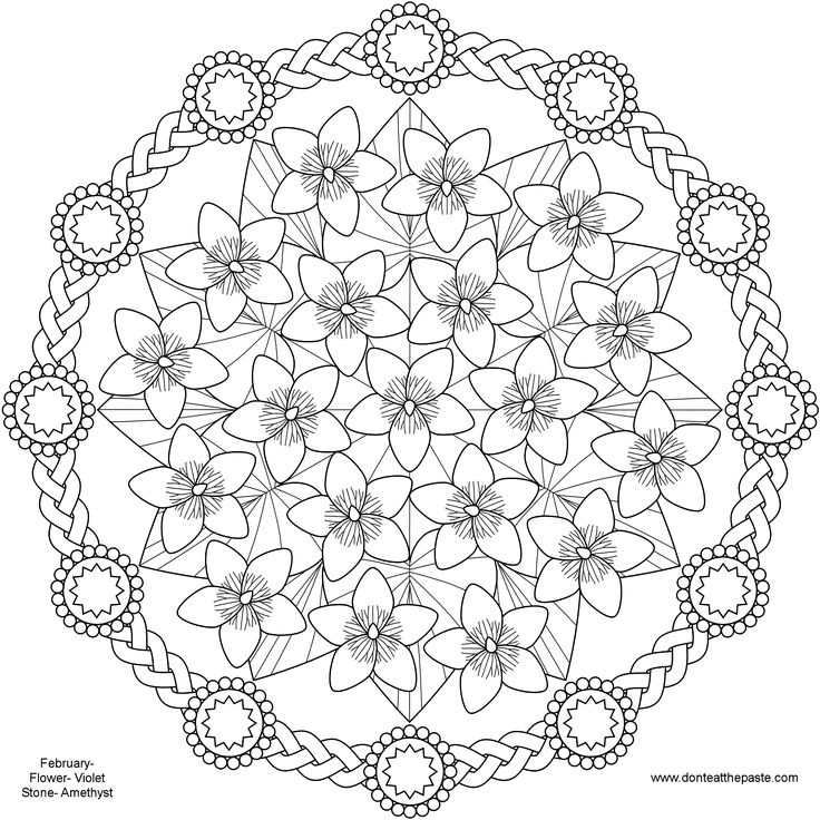spring flower mandala coloring pages pattern mandala free printable mandala coloring pages. Black Bedroom Furniture Sets. Home Design Ideas
