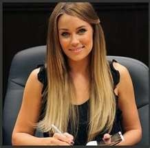 Lauren Conrad book signing with blonde ombre. hair color