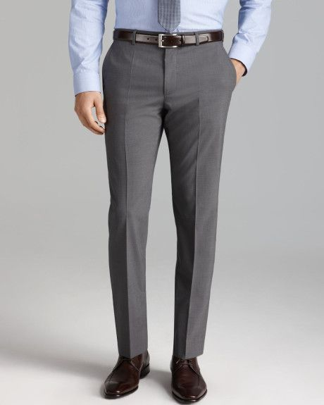 Hugo Boss Hugo Hamens Trousers Slim Fit in for Men (Grey) - Lyst