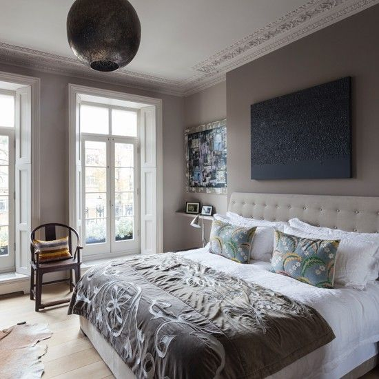 Gray and White Bedrooms | Soft grey and white Nordic bedroom | Modern decorating ideas | Homes ...