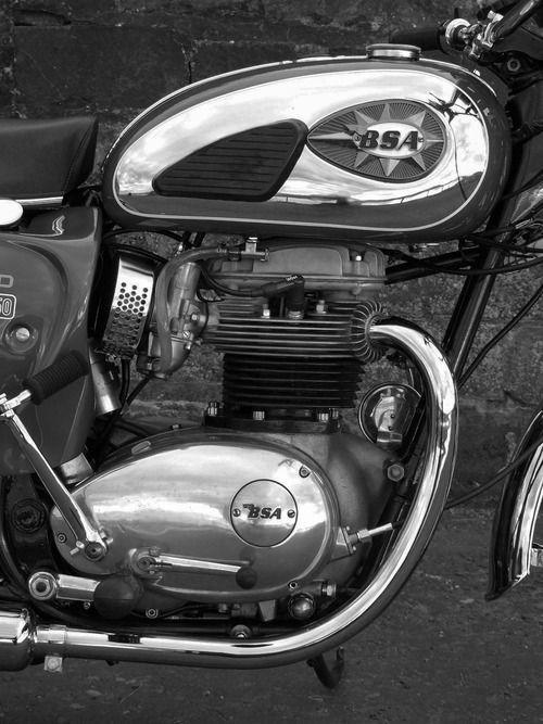 BSA A65 - Good old British motorbike. I really miss their sound!