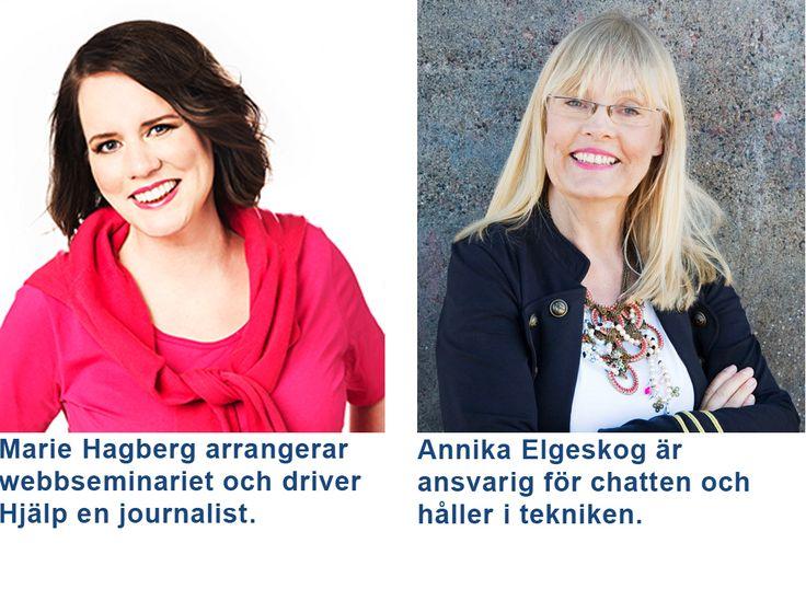 Marie Hagberg och Annika Elgeskog leder detta Webbinarium Författare? Marknadsför dig rätt på sociala medier