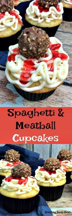 Spaghetti and Meatball Cupcakes | Dazzling Daily Deals
