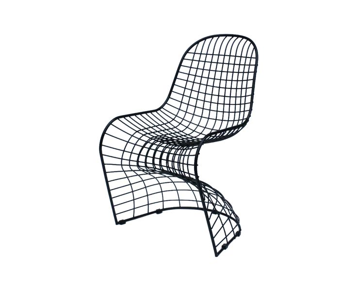 Panton Black Mesh Chair Replica