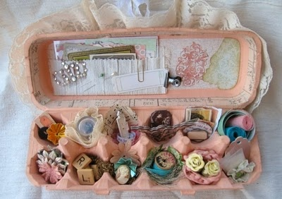 183 best images about vintage craft rooms on pinterest for Egg carton room