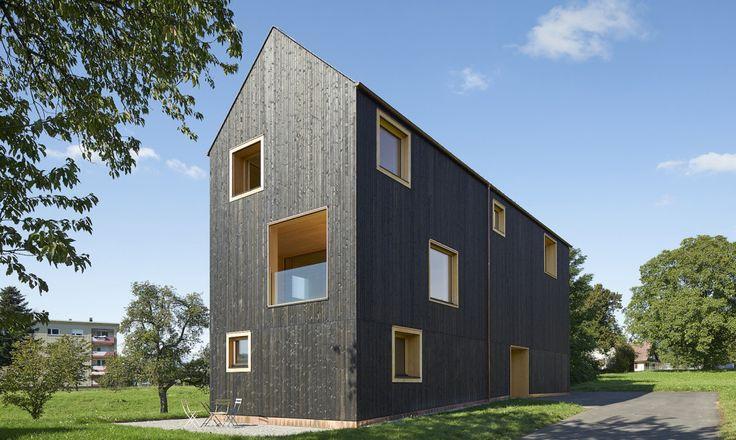 Bernardo Bader Architekten designed the House Bäumle 2, a timber home with a…