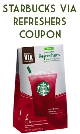 Starbucks Via Refreshers Coupon: 1.50 off 1! #starbucks