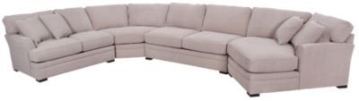 Homemakers Furniture: 4 Piece Sectional: Jonathan Louis: Living Room: Sectionals