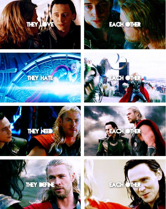 """""""The film is structured around these two brothers; you know, they love each other and they hate each other and they need each other and they define each other."""" - Tom Hiddleston on """"Thor: The Dark World"""""""