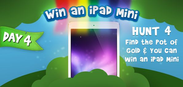iPad mini giveaway Part 4 http://www.bargainmoose.ca/bargainmoose-birthday-contest-part-4-find-the-leprechauns-pot-of-gold-win-an-ipad-mini/