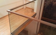 Escaliers Deparis 77 - escaliers en bois sur mesure ile de france Fabrication et pose.contemporain - garde-corps verre sur profil alu