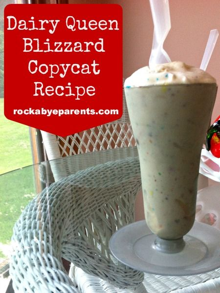 Dairy Queen Blizzard Copycat | Recipe | Dairy queen ...