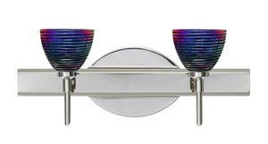 """Besa 2SW-1858DW-PN Divi - Two Light Bath Bar by Besa. $324.00. Description 2-4 light vanity luminaires featuring handcrafted glass. Multilight version of 1SW Divi sconce. LAMPING 40W Low-pressure G9 Halogen 120V lamp, included. Suitable for use in an open fixture. Dimmable with standard incandescent dimmer. DIFFUSER Shade shall be handcrafted glass of various decors. Diameter of 3.375"""" and height of 2.625"""", spaced 7.875"""" apart on center. CONSTRUCTION Fixture utilizes met..."""