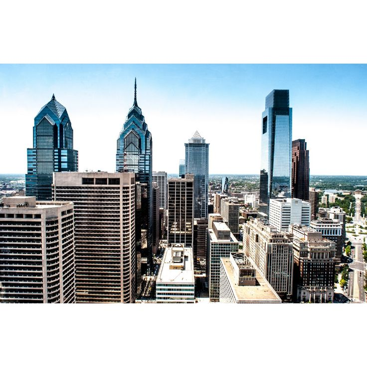 Philadelphia Skyline Wall Mural Architecture Cityscapes A Grand Rooftop View Across Busy