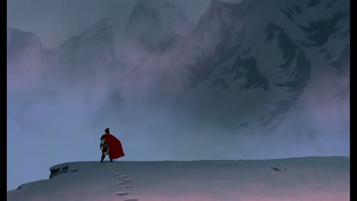 Shang finding out his father died - print screen from Mulan