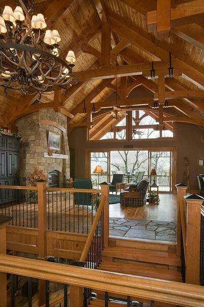 25 Best Ideas About Log Home Interiors On Pinterest