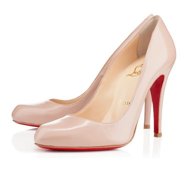 Chaussures Louboutin DECOLLETE 868 CALF 100 mm NUDE Mariage Femme
