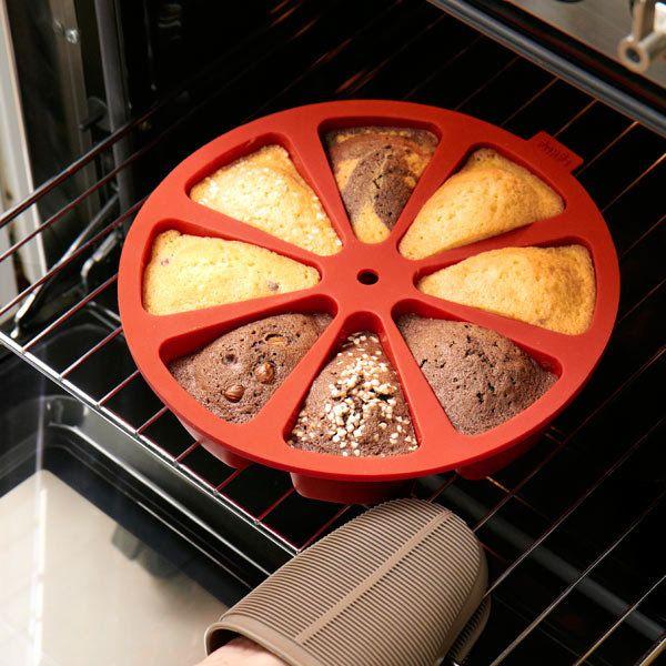 LÉKUÉ - É uma forma para bolos já com os formatos de pedaços definidos e que permite realizar diferentes misturas.