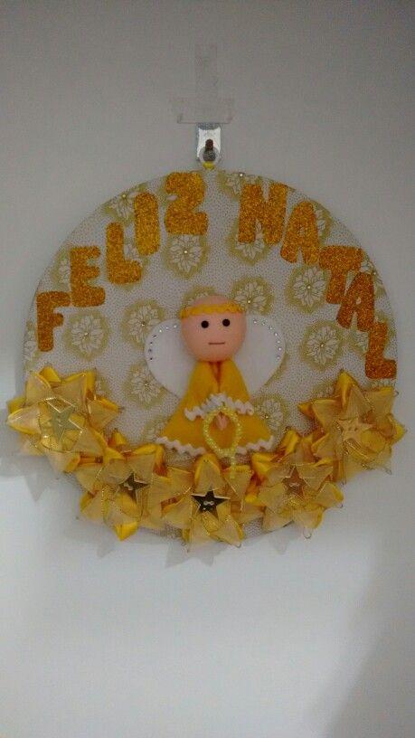 Guirlanda de Natal (cartonagem, patchaplique, feltro e fitas)