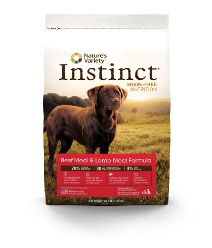 Instinct Grain-Free Beef Meal and Lamb Meal Dry Dog Food by Nature`s Variety, 25.3-Pound Package