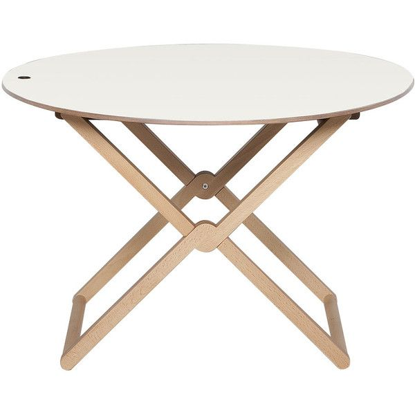 Caon Arreda Treee Round Folding Coffee Table   Beech Wood (17,535 PHP) ❤  Liked