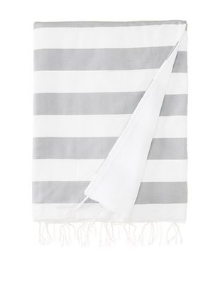 41% OFF Nine Space Ayrika Beach Collection Wide Stripe Terry Fouta Towel (Grey)