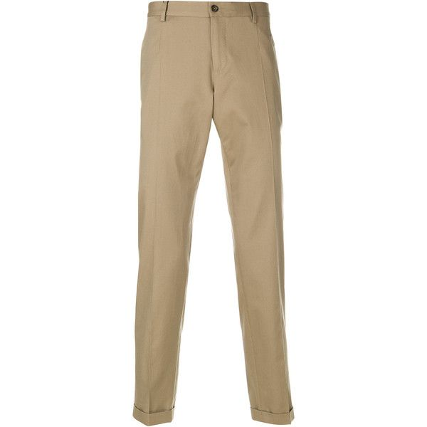 Dolce & Gabbana turn-up chinos (461,545 KRW) ❤ liked on Polyvore featuring men's fashion, men's clothing, men's pants, men's casual pants, green, mens green pants, mens zipper pants, mens elastic waistband pants, mens chino pants and mens green chino pants