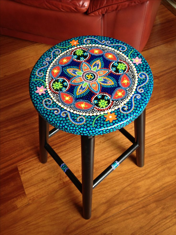 Best 25 Painted Stools Ideas On Pinterest Hand Painted