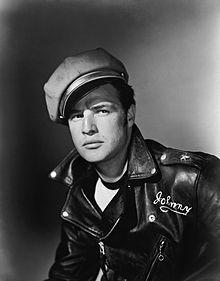 'The Wild One' 1953, Marlon Brando portrayed rebel motorcycle gang leader Johnny Strabler