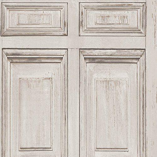 UGEPA-Carta-da-parati-in-tessuto-non-tessuto-034-Porta-in-legno-034-Beige-J92207
