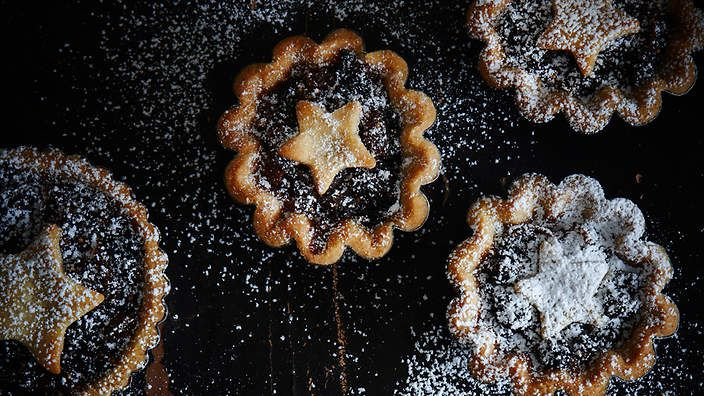Superb pastry, rich filling - bring on the Christmas mince pies! These fig and pear fruit mince cinnamon tarts are by our expert  baker, Bake Club's Anneka Manning