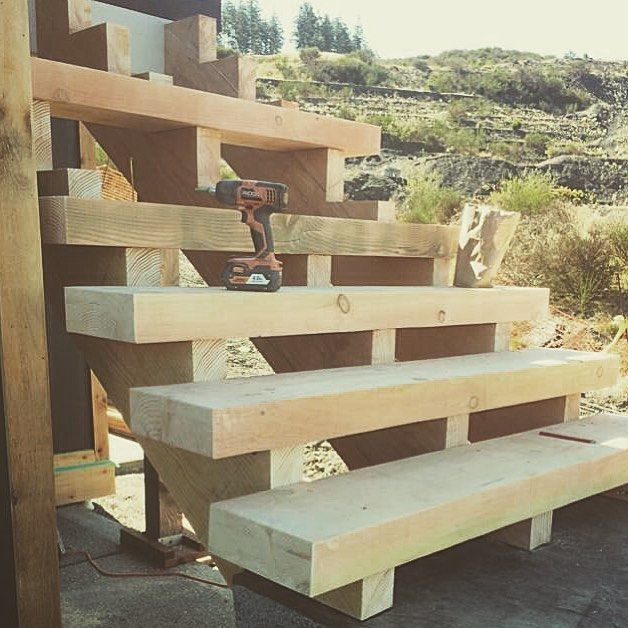 Beauty set of stairs I built on a custom house after my first year of carpentry school. @successfulforeman #successfulforeman #contractorsofinsta @contractors.of.insta #house #stairs #carpentry #woodwork #hardwork #wood #properties #vancouverisland #maplebay #carpentrylife #contractor #carpenter #dowoodworking #rigid #viu de coryjohanson