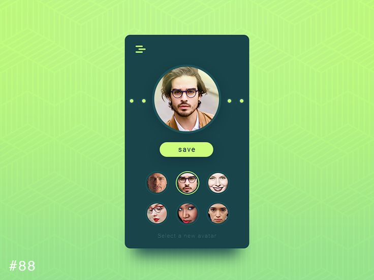 DailyUI design - Avatar