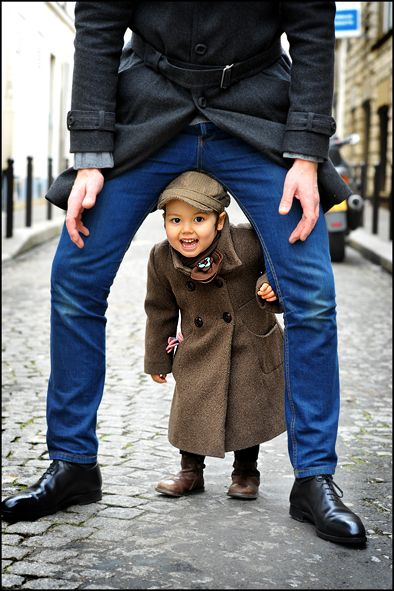 There's a certain quality about the blue of this pair of jeans that really attracts me. And yes, the kid is kinda cute too.