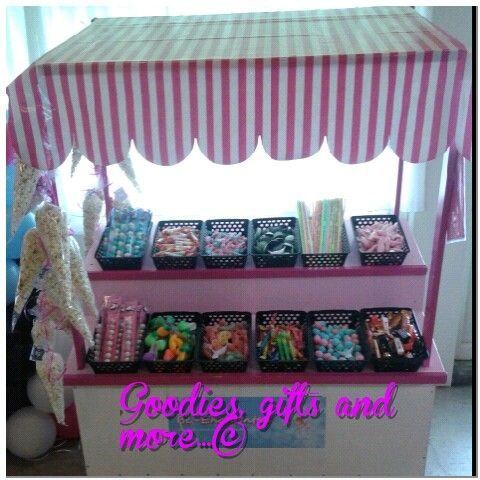 Candy booth at a Monster high party