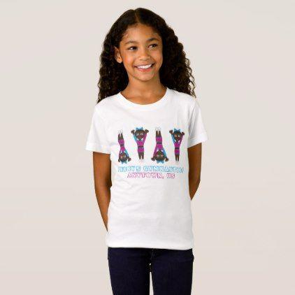 Customized Gymnastics Academy Tumbling Gym Gymnast T-Shirt - personalize design idea new special custom diy or cyo