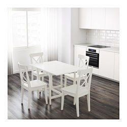 IKEA - INGATORP, Mesa de abas rebatíveis, Mesa com abas rebatíveis para 2-4 pessoas; permite adaptar o tamanho da mesa de acordo com as suas necessidades.A superfície com acabamento em verniz incolor é fácil de limpar.