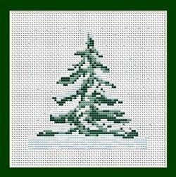 Free Christmas Cross Stitch Patterns | Christmas Tree - Mini Project, Starter Cross Stitch Kit B012