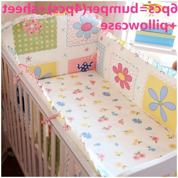 42.50$  Buy here - http://ali5k3.worldwells.pw/go.php?t=32517091696 - Discount! 6pcs Baby bedding sets Baby Girl Cot Crib Bedding Set ,include(bumper+sheet+pillowcase) 42.50$