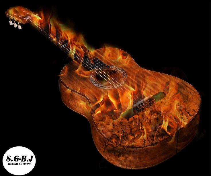 The Flaming Guitar - S.G-B.J