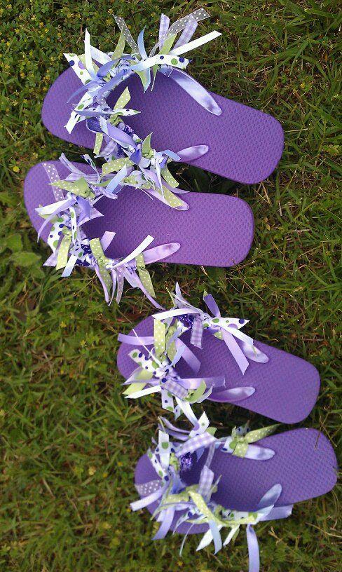 flip flop craft ideas   Ideas That Make Me Happy: Ribbon Flip Flops